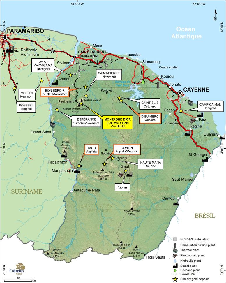 French Guiana Deposits