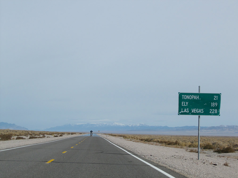 Eastside is located 32 km from Tonopah, Nevada on Highway 95